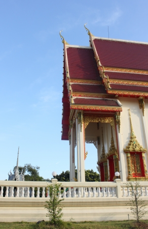 Thai temple with blue sky