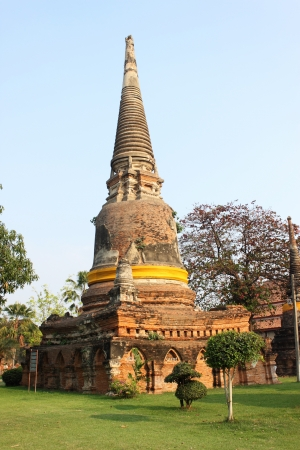 Ancient Buddhist stupa in Thailand Stock Photo