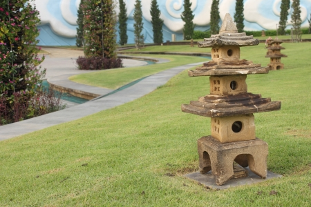 Small Stone Pagoda In Garden, Thailand Stock Photo, Picture And ...