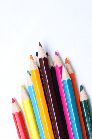 Color Pencils and Paper photo