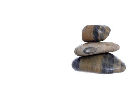 pile of stones isolated on white background