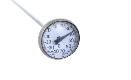 Culinary thermometer isolated on the white background Stock Photo