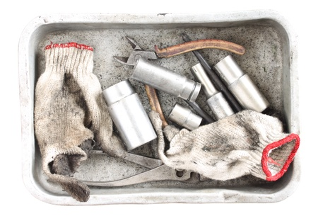 Tools in Silver tray photo