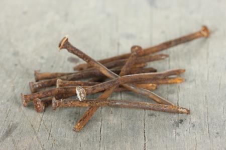 Rusty nails Standard-Bild