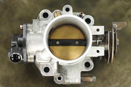 Cleaning carburetor with gasoline Standard-Bild