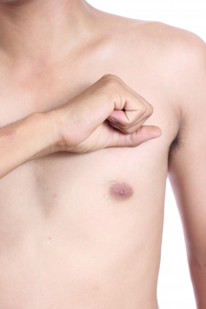 male torso, having heart attack Stock Photo - 22847233