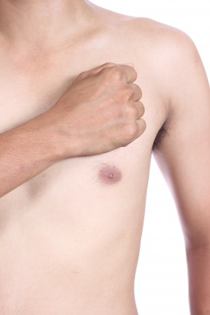 male torso, having heart attack Stock Photo - 22847235