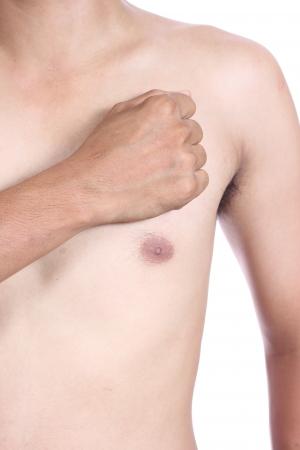 male torso, having heart attack Stock Photo - 22847235