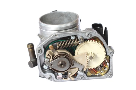 carburetor isolated on white background Stock Photo