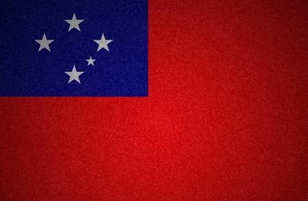 samoa: Grunge flag series - Western Samoa