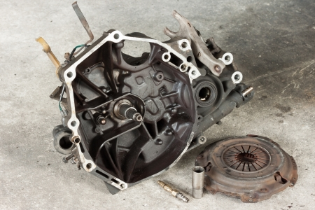 Gearbox Assembly and Vehicle Clutch Stock Photo