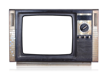 Vintage tv, isolate on white background photo