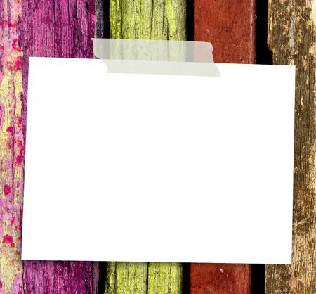 Sticky Note on wooden background