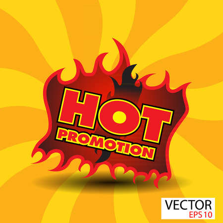 Hot promotion sticker  with flames photo