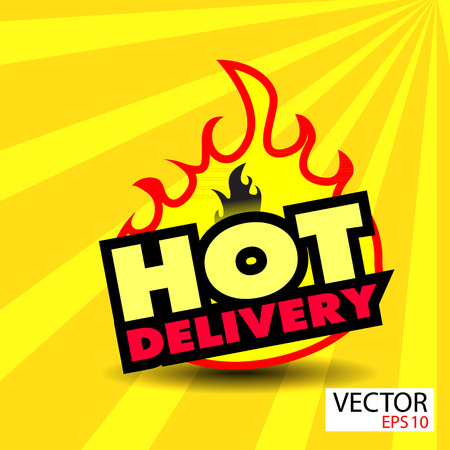 Hot delivery sticker  with flames photo