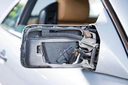 rear view mirror: Car rear view mirror