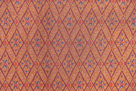 Texture background : Pattern texture of general traditional thai style native handmade fabric weave