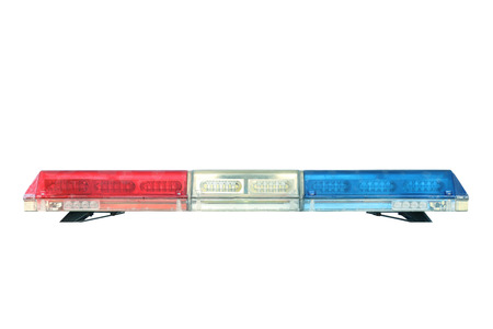sirens: police car siren light, isolated on white background