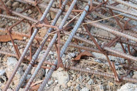 steel rod for house building Stock Photo