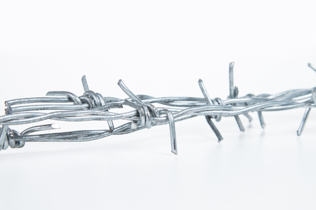 wire: barbed wire Stock Photo