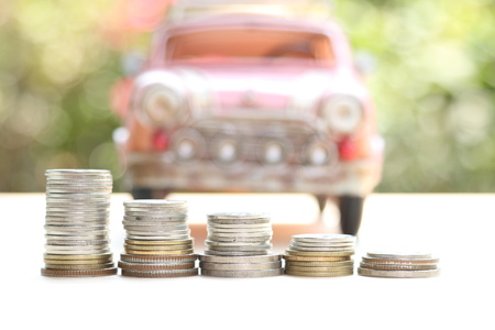 industry trends: car and money, concept of car loan