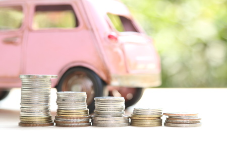 car and money, concept of car loan