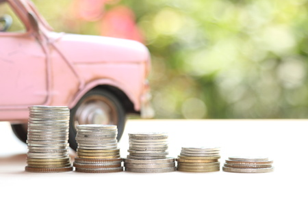 car loan: car and money, concept of car loan