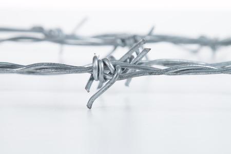 prohibido el paso: alambre de espino