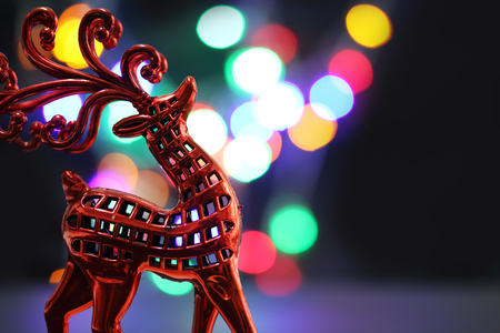 Close up of red deer with bokeh background