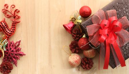 christmas background for greeting card Standard-Bild