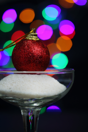 christmas ball with bokeh background Stock Photo