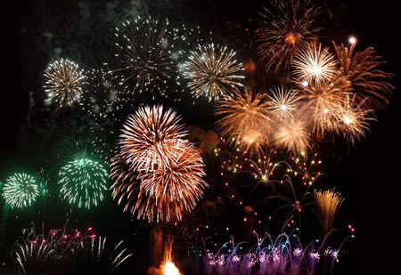 Fireworks in Madeira Island