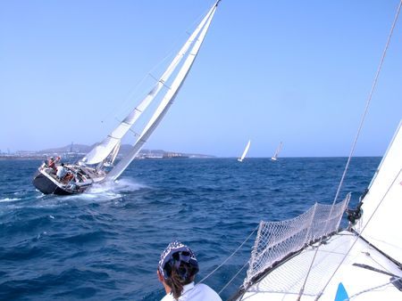 During a regatta in Canaries