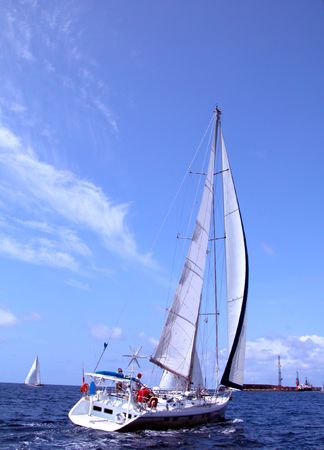 regatta in Azores        Stock Photo