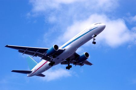 airplane passing Stock Photo