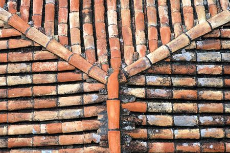 roof tiles used as a background Stock Photo
