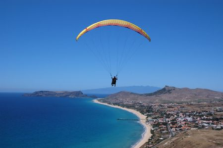 Paraglider in Porto Santo Island