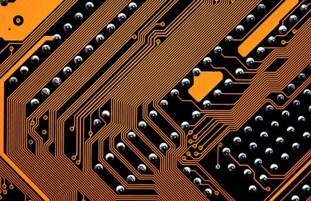 detail of the circuits of a computer motherboard