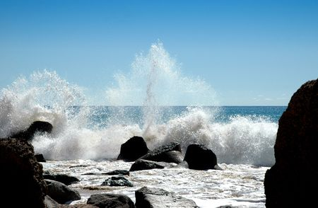 wave breaking at the beach Stock Photo - 1105705