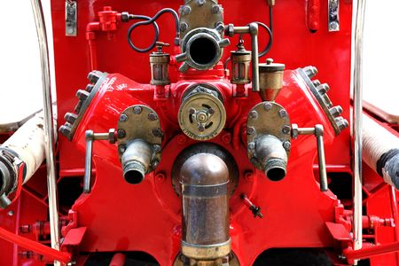 antique fire truck: A retired piece of fire fighting equipment