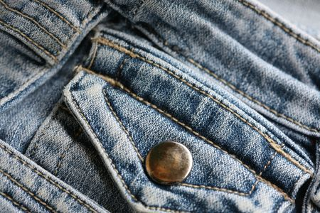 detail shot of a used blue pants Stock Photo - 6945259
