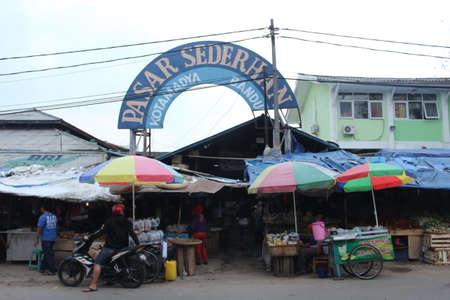 Pasar Sederhana Traditional Market in Jurang Street Bandung