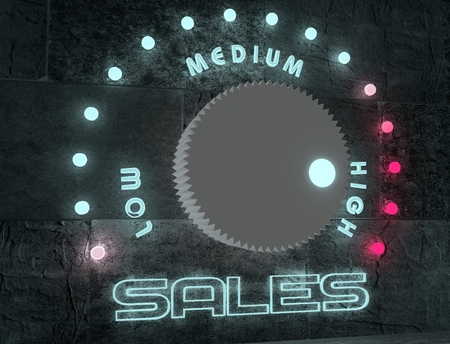 regulator with neon shine scale and sales relative marks photo
