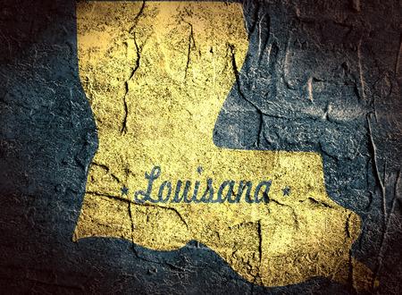 louisiana state: concrete texture map of the louisiana state Stock Photo