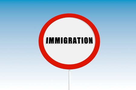 illegal: image relative to illegal migration from africa to europe Stock Photo