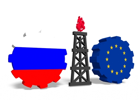 mine data: image relative to gas transit from russia to europe