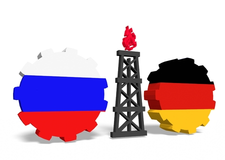 mine data: image relative to gas transit from russia to germany Stock Photo