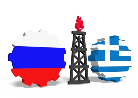 mine data: image relative to gas transit from russia to greece