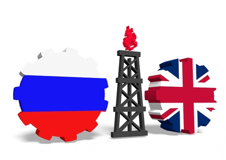 mine data: image relative to gas transit from russia to united kingdom Stock Photo