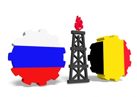 mine data: image relative to gas transit from russia to belgium